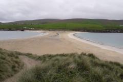 Doppelstrand Tombolo bei St.Ninians Isle Shetland
