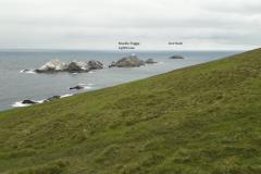Muckle Flugga und Out Stack der nördlichste Punkt Großbritanniens